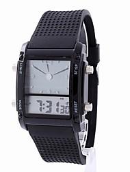 Недорогие -Жен. электронные часы Pезина Черный / Белый Секундомер ЖК экран Фосфоресцирующий Аналого-цифровые На каждый день Мода Элегантный стиль Рождество - Белый Черный Один год Срок службы батареи