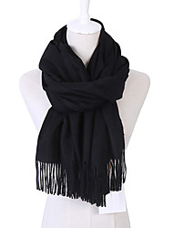 cheap -Women's Cashmere / Cotton / Linen Rectangle Scarf - Solid Colored / Fall / Winter