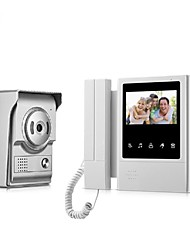 cheap -Wired 4.3 inch Hands-free 480*272 Pixel One to One video Doorphone Door Bell 700 TVL Camera Infrared light Night Vision Wall Mounting