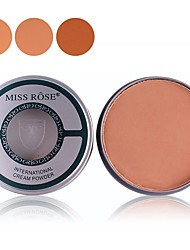Недорогие -3 цвета Набор макияжа Компактная пудра Пуховка для пудры 1 pcs Сухие / Матовое стекло / Комбинация Другое Лицо # Составить косметический ABS