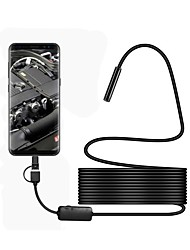cheap -3 in 1 USB Endoscope Waterproof IP67 8mm Lens 5m Hardwire Borescop Inspection Camera Snake Video Cam with 6 LED for Android PC
