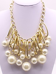 cheap -Women's Pendant Ladies Classic Fashion Imitation Pearl Alloy Gold Necklace Jewelry For Ceremony Engagement