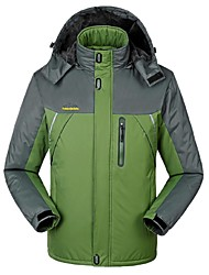 cheap -Men's Hiking Jacket Winter Outdoor Windproof Breathable Rain Waterproof Wear Resistance Winter Jacket Top Full Length Visible Zipper Camping / Hiking Climbing Cycling / Bike Black / Army Green / Navy