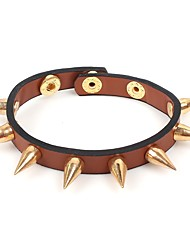 cheap -Men's Women's Bracelet Rock Hip-Hop Leather Bracelet Jewelry Brown / Red / Pink For Evening Party Carnival