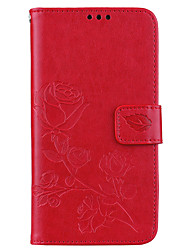 cheap -Phone Case For Samsung Galaxy Full Body Case Leather Wallet Card A3 A5 A5(2016) A3(2016) Wallet Card Holder with Stand Flower / Floral Hard PU Leather
