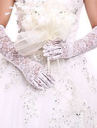 cheap -Lace Opera Length Glove Bridal Gloves / Party / Evening Gloves With Embroidery