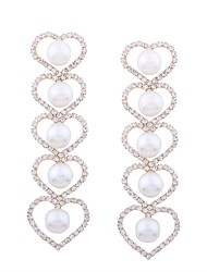 cheap -Women's Drop Earrings Heart Ladies Classic Fashion Imitation Pearl Earrings Jewelry Gold For Ceremony Evening Party