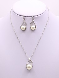 cheap -Women's Jewelry Set Ladies Simple Elegant Pearl Earrings Jewelry Silver For Daily Casual