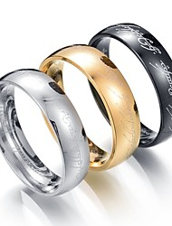 cheap -Men's Band Ring One-piece Suit Golden Black Silver Stainless Steel Metal Circle Wedding Valentine Jewelry