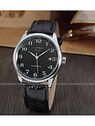 cheap -WINNER Men's Wrist Watch Automatic self-winding Leather Black 30 m Calendar / date / day Analog Vintage Casual Fashion Dress Watch - White Black / Stainless Steel