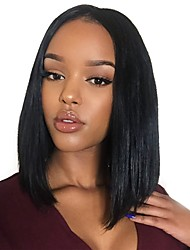 cheap -Human Hair Lace Front Wig Bob Kardashian style Brazilian Hair Straight Wig 130% Density 8-30 inch with Baby Hair Women's Medium Length Human Hair Lace Wig