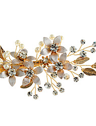 cheap -Rhinestone / Alloy Flowers / Hats / Hair Clip with Faux Pearl 1pc Wedding / Special Occasion / Birthday Headpiece