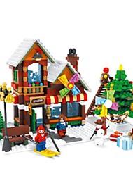 abordables -AUSINI Blocs de Construction Jeu de construction Jouets Jouet Educatif 1 pcs Niches Maison compatible Legoing Noël Garçon Fille Jouet Cadeau