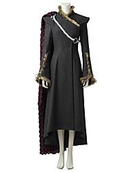 cheap -Game of Thrones Dragon Mother Queen Daenerys Targaryen Khaleesi Costume Women's Movie Cosplay Gray & Black Dress Cloak More Accessories Halloween Carnival Oktoberfest Beer