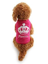 cheap -Cat Dog Shirt / T-Shirt Dog Clothes Rose Costume Terylene Tiaras & Crowns Casual / Daily XS S M L