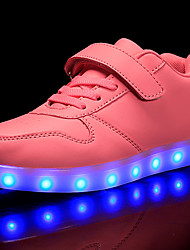 cheap -Girls USB Charging  LED / Comfort / LED Shoes PVC Leather / Customized Materials Sneakers Little Kids(4-7ys) / Big Kids(7years +) Lace-up / Magic Tape / LED Black / White / Red Fall / Winter / TR