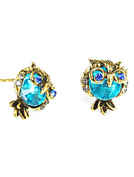 cheap -Women's Stud Earrings Owl Ladies Vintage Fashion Earrings Jewelry Blue For Birthday Gift Ceremony Evening Party