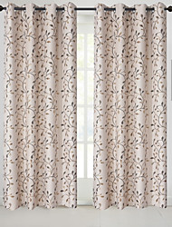 cheap -Blackout Curtains Drapes Two Panels Bedroom Floral Polyester Blend Jacquard