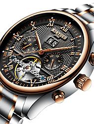 cheap -KINYUED Men's Wrist Watch Mechanical Watch Analog Automatic self-winding Luxury Waterproof Calendar / date / day Chronograph / Stainless Steel