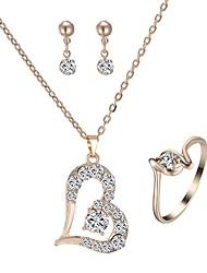 cheap -Women's Drop Earrings Necklace Heart Classic Fashion Imitation Diamond Earrings Jewelry Gold For Daily