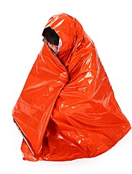 cheap -Emergency Blanket Outdoor Envelope / Rectangular Bag 26 °C Single Synthetic Thermal / Warm Ultraviolet Resistant Thick Heat Retaining Heat-Insulated 210*130 cm All Seasons for Camping / Hiking