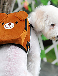 cheap -Cat Dog Commuter Backpack Portable Mini Walking Pet Fabric Color Block Cartoon Cute Brown White Red / Foldable