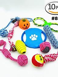 Недорогие -Жевательные игрушки для собак Жевательные игрушки для кошек Веревки Собака Щенок Животные Игрушки 10 шт. Скорость Очень свободное облегание Шнур Подарок
