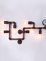 cheap -Retro Industrial Style Metal Wall Light Dining Room Game Room And Bar 6-Light Water Pipe Wall Sconce