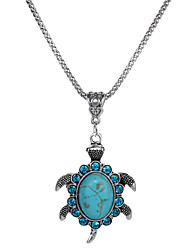 cheap -Women's Crystal Pendant Necklace Turtle Animal Ladies Simple Fashion Turquoise Alloy Turquoise Necklace Jewelry One-piece Suit For Gift Evening Party