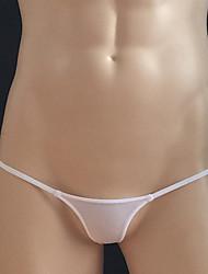 cheap -Men's G-strings & Thongs Panties / G-string Underwear Solid Colored 1 Piece Black Light Blue White M L XL / Club