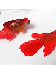 cheap -Fish Tank Aquarium Decoration Fish Bowl Ornament Artificial Fish Random Color Mini Non-toxic & Tasteless Decoration Silicon Rubber Silicone 1 5*7 cm