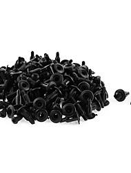 Недорогие -100 шт. 11мм х 5мм черная пластиковая заклепка бамперная подкладка с подкладкой