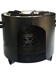 Недорогие -Походная горелка Все для приготовления пищи на улице Чехол в комплекте за 3-4 человека Нержавеющая сталь на открытом воздухе Походы Черный
