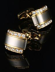 cheap -Cufflinks Metallic Fashion Alloy Brooch Jewelry Golden For Wedding Gift