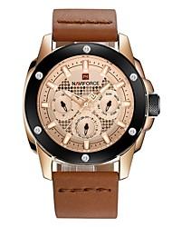 Недорогие -Муж. Наручные часы Swiss Натуральная кожа Черный / Оранжевый / Коричневый Защита от влаги Календарь Секундомер Аналоговый Роскошь Классика Мода Элегантный стиль Рождество -  / Два года / Два года