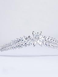 cheap -Cubic Zirconia / Copper Tiaras with / 1pc Wedding / Birthday Headpiece