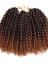 cheap -Curly Crochet Curly Braids Hair Braids Blonde Auburn 100% kanekalon hair Kanekalon Braids 8 inch Short Braiding Hair 60 roots / pack 3pcs / pack