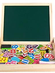 billige -Tegneredskab Tegnetablets Matematiklegetøj Shape Sorter Toy Familie Skole / Studentereksamen Bolster Bogstaver Træ Skole Magnetisk multi-værktøj Børne til fødselsdagsgaver eller favoriser til festen