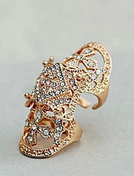 cheap -Women's Open Cuff Ring Gold Silver Imitation Diamond Alloy Irregular Statement Fashion Armor Wedding Daily Jewelry