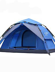 Недорогие -Sheng yuan 2 человека Туристические палатки На открытом воздухе Альпинизм Складной Двухслойные зонты Автоматический Сферическая Палатка 2000-3000 mm для