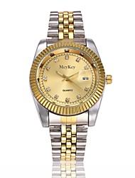 cheap -Men's Wrist Watch Quartz Stainless Steel Gold Calendar / date / day Casual Watch Cool Analog Luxury Classic Fashion Minimalist Dress Watch - Gold One Year Battery Life / Jinli 377