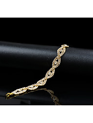 cheap -Women's Cubic Zirconia Chain Bracelet Vintage Elegant Crystal Bracelet Jewelry Gold For Wedding Evening Party