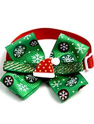 cheap -Cat Dog Collar Tie / Bow Tie Portable Foldable Adjustable Flexible Bowknot Lolita Other Material Husky Dalmatian Beagle Pug Shih Tzu Poodle Green