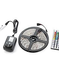 Недорогие -5 м 300smd 5050 водонепроницаемый 44 клавиши ик-пульт дистанционного управления 12 В 3а блок питания светодиодные полосы света устанавливает ac100-240 В