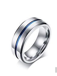 cheap -Men's Band Ring Titanium Matt black Titanium Circle Classic Elegant Wedding Party Jewelry / Daily