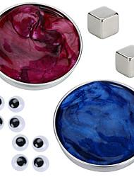 Недорогие -2 pcs Магнитные игрушки Магнитный пластилин Конструкторы Сильные магниты из редкоземельных металлов Неодимовый магнит Головоломка Куб Магнитный Сделай-сам / Новый дизайн / Безопасно для детей