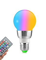 cheap -1pc 5 W LED Globe Bulbs 400 lm E14 E26 / E27 5 LED Beads SMD Dimmable Remote-Controlled Decorative RGBW 85-265 V / RoHS / CE Certified