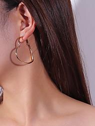 cheap -Women's Drop Earrings Hoop Earrings Heart Sweet Earrings Jewelry Gold / Silver For Date Street