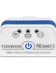 cheap -TONWON 2 BLE4.0 ELM327 OBD2 Diagnostic Scanner Bluetooth4.0 Check Car Engine Support All OBDII Protocols Use for Android iOS Code Reader