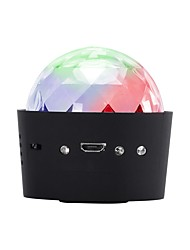 cheap -U'King Disco Lights Party Light LED Stage Light / Spot Light Sound-Activated 3 W Party / Wedding / Dance Portable / Professional Red Blue Green for Dance Party Wedding DJ Disco Show Lighting